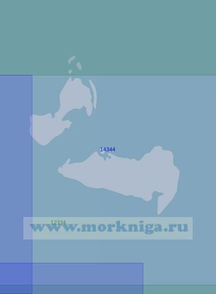 14344 Острова Старокадомского и Малый Таймыр (Масштаб 1:100 000)