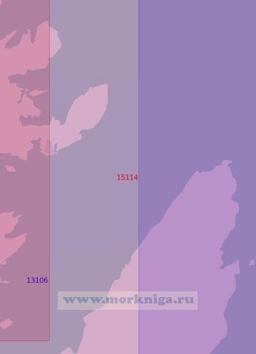 15114 Северная часть залива Порсанген (Масштаб 1:50 000)