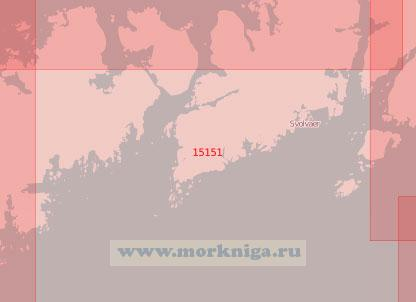 15151 От островов Скрова до острова Бьёрнерёйа с проливом Хеннингсверстрёумен (Масштаб 1:50 000)