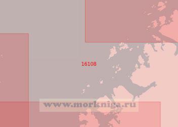 16108 Подходы к Шёра-фьорд, Бер-фьорд и Браннс-фьорд (Масштаб 1:50 000)