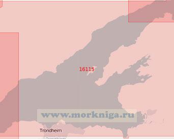 16115 Центральная часть залива Троннхеймс-фьорд (Масштаб 1:50 000)