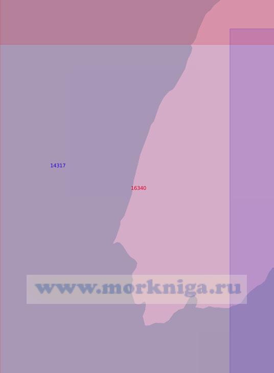 16340 От мыса Неупокоева до параллели 78°17'N (Масштаб 1:50 000)