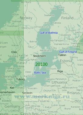 20100 Балтийское море (Масштаб 1:2 000 000)
