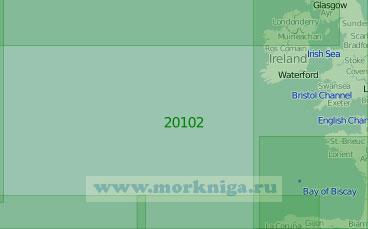 20102 Район к западу от Британских островов (Масштаб 1:2 000 000)