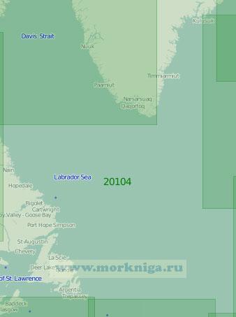 20104 Море Лабрадор и Девисов пролив (Масштаб 1:2 000 000)