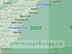 20107 От порта Бостон до порта Чарлстон (Масштаб 1:2 000 000)