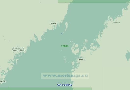 22090 От маяка Коккола до маяка Вента-Литетс-Грунд (Масштаб 1:300 000)
