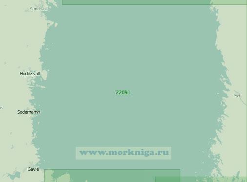 22091 От порта Сундсвалль до порта Уусикаупунки (Нюстад) (Масштаб 1:300 000)