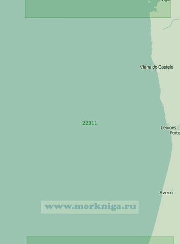 22311 От острова Фаро до мыса Мондегу (Масштаб 1:250 000)