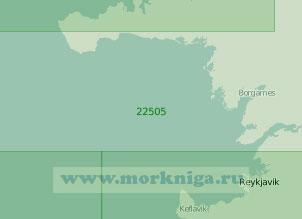 22505 От мыса Гардскайи до мыса Эндвердарнес с портом Рейкьявик (Масштаб 1:200 000)