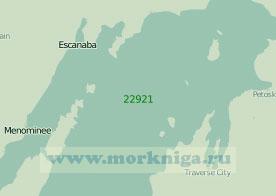 22921 Озеро Мичиган. От пролива Макино до бухты Грин - Бей (Масштаб 1: 250 000)