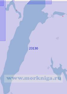 23130 Озеро Веттерн и Гёта-канал (Масштаб 1:100 000)