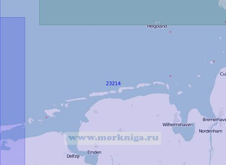 23214 От острова Гельголанд до острова Боркум (Масштаб 1:150 000)