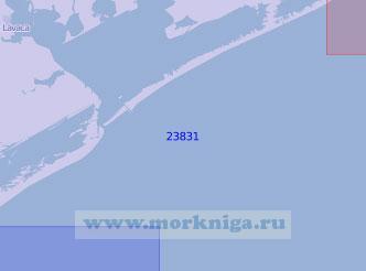 23831 Бухта Матагорда с подходами (Масштаб 1:100 000)