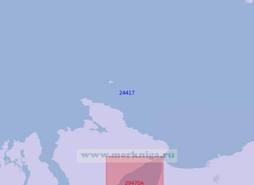 24417 Подходы к заливам Лох-Фойл и Лох-Суилли (Масштаб 1:100 000)
