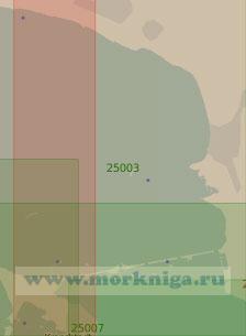 25003 От мыса Лисий Нос до Зеленогорска (Масштаб 1:25 000)