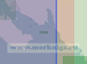 25008 Южная часть пролива Бьеркёзунд (Масштаб 1:25 000)