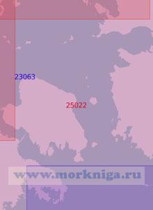 25022 Южная часть пролива Вяйнамери (Масштаб 1:50 000)