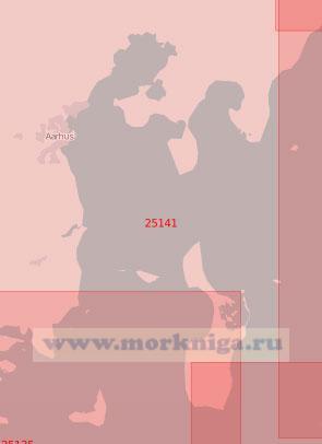 25141 Пролив Каттегат. Бухта Орхус - Бугт (Масштаб 1: 75 000)