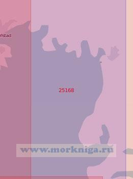 25168 Озеро Венерн. Залив Вермландсшён. Подходы к портам Карлстад и Кристинехамн (Масштаб 1: 60 000)
