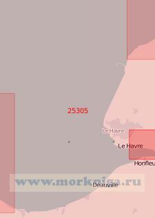 25305 Подходы к порту Гавр (Масштаб 1:75 000)