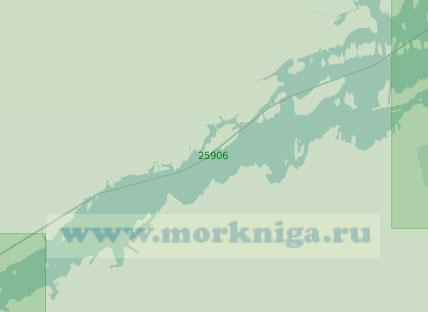 25906 От островов Лонг-Су до селения Уоддингтон (Масштаб 1:25 000)
