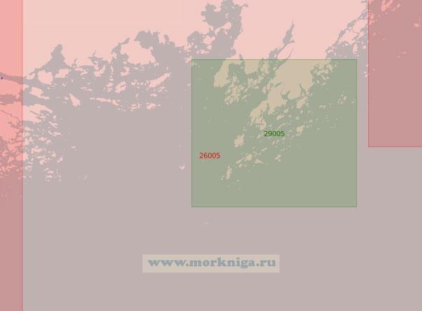 26005 От острова Чютё до острова Эльгшёландет с полуостровом Порккаланниеми (Поркалаудд) (Масштаб 1:50 000)