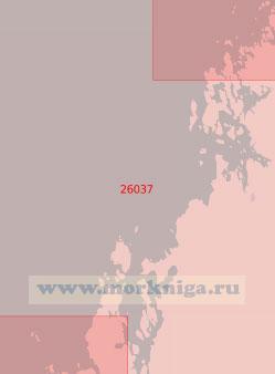 26037 От светящегося знака Стуббен до острова Стургрундет (Масштаб 1:50 000)