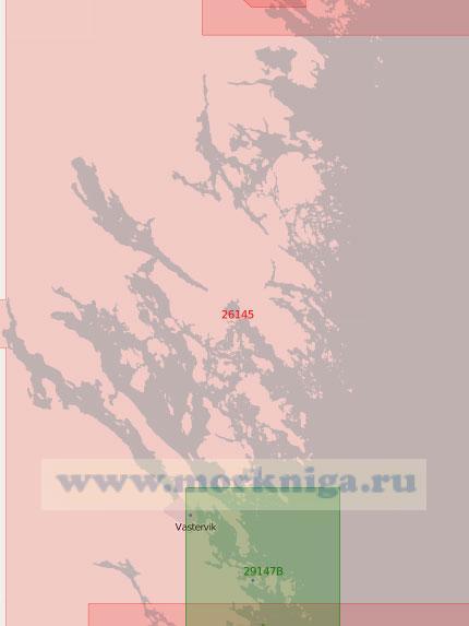 26145 От светящего знака Свартбодан до маяка Кунгсгрундет (Масштаб 1:50 000)