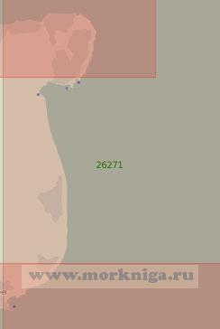 26271 От мыса Норт-Форленд до порта Дувр (Масштаб 1:37 500)