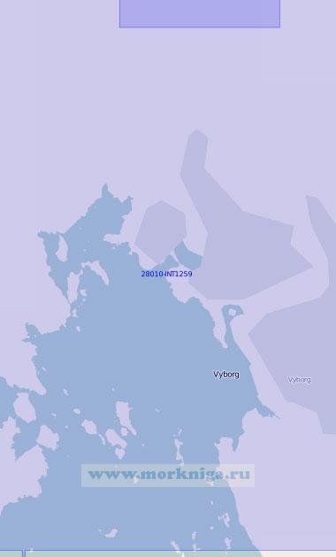 28010 - INT1259 Подходный фарватер Сайменского канала. От светящего знака Дубовый до острова Лавола (Масштаб 1: 12 500)