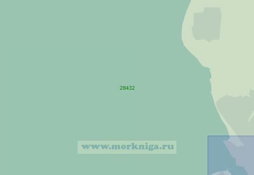 28432 Подходы к порту Ливерпуль (Масштаб 1:25 000)