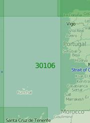 30106 От Бискайского залива до Канарских островов (Масштаб 1:2 000 000)