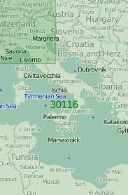 30116 Карта Средней части Средиземного моря (Масштаб 1:2 000 000)