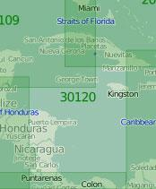 30120 Западная часть Карибского моря (Масштаб 1:2 000 000)