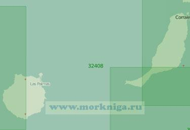 32408 От острова Фуэртевентура до острова Тенерифе с островом Гран-Канария (Масштаб 1:200 000)