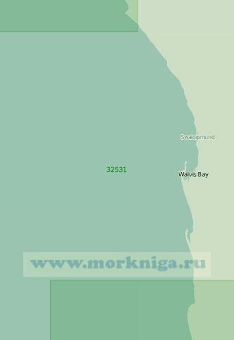 32531 От бухты Кейп-Кросс до рейда Свакопмунд (Масштаб 1:200 000)