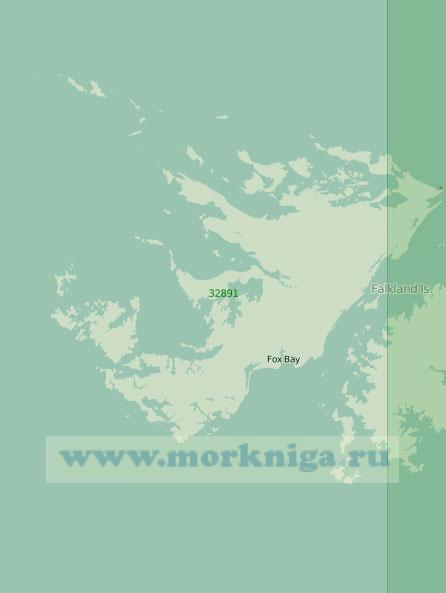 32891 Остров Западный Фолкленд (Гран-Мальвина) (Масштаб 1:250 000)