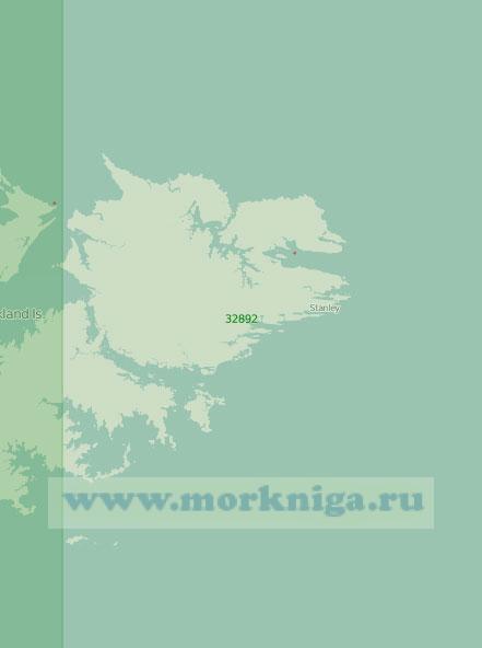 32892 Остров Восточный Фолкленд (Соледад) (Масштаб 1:250 000)