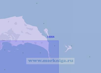 33004 Восточная часть Апшеронского полуострова (Масштаб 1:100 000)