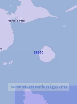 33650 От острова Гваделупа до острова Доминика (Масштаб 1:100 000)