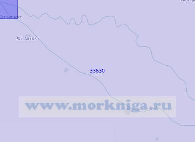 33830 Река Парана. Схема судового хода от острова Пальмас до порта Вилья - Конститусьон (Масштаб 1: 100 000)