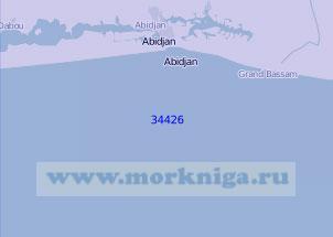 34426 Подходы к порту Абиджан (Масштаб 1:100 000)