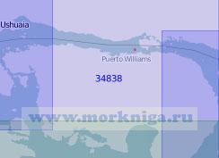 34838 Пролив Бигл. От бухты Ушуая до острова Гейбл (Масштаб 1: 100 000)