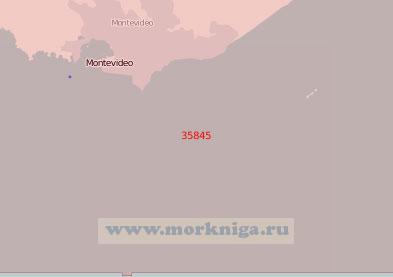 35845 Порт Монтевидео с подходами (Масштаб 1:75 000)