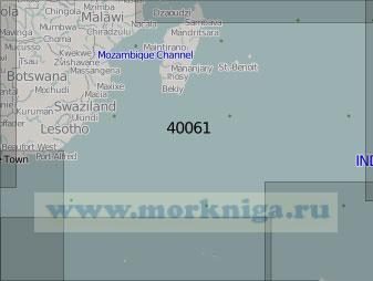 40061 Западная часть Индийского океана (Масштаб 1:5 000 000)
