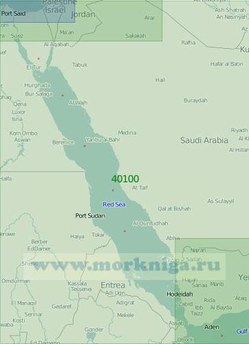 40100 Красное море (Масштаб 1:2 000 000)