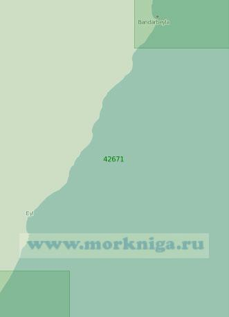42671 От селения Бендер-Бейла до мыса Рас-эль-Хейль (Масштаб 1:300 000)