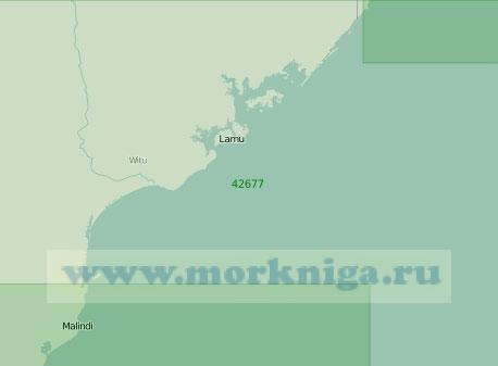 42677 От порта Малинди до мыса Рас-Камбони (Масштаб 1:300 000)
