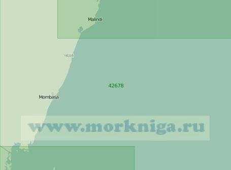 42678 От бухты Малинди до пролива Пемба (Масштаб 1:300 000)